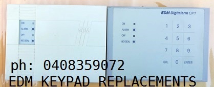 EDM CP1 alarm keypad replacements services