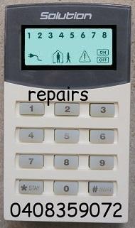 bosch alarm system keypad 880 ultima repair