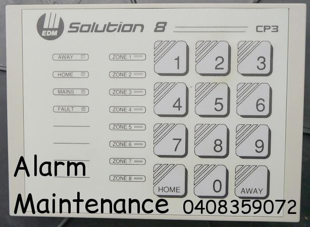 alarm repairs solution 8 keypad